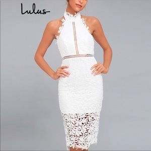Lulus NWOT Divine Destiny White Lace Dress